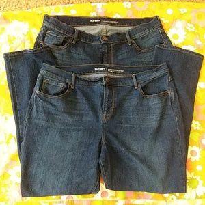 Bundle of old navy curvy jeans